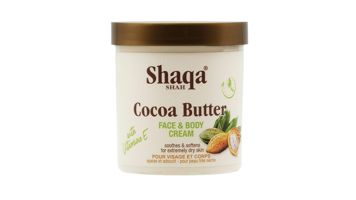 Shaqa Shah Cocoa Butter Face & Body Cream 450ml